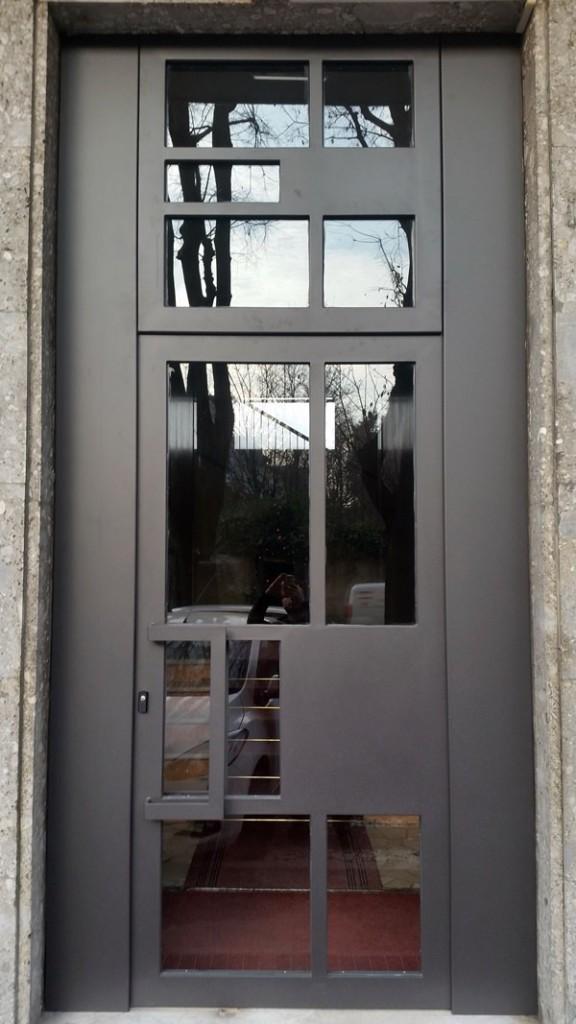 Portoni in ferro moderni rb06 pineglen - Portoni blindati per esterno ...