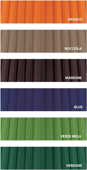 rete plissettata colorata